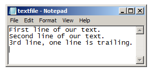 Notepad Python Example
