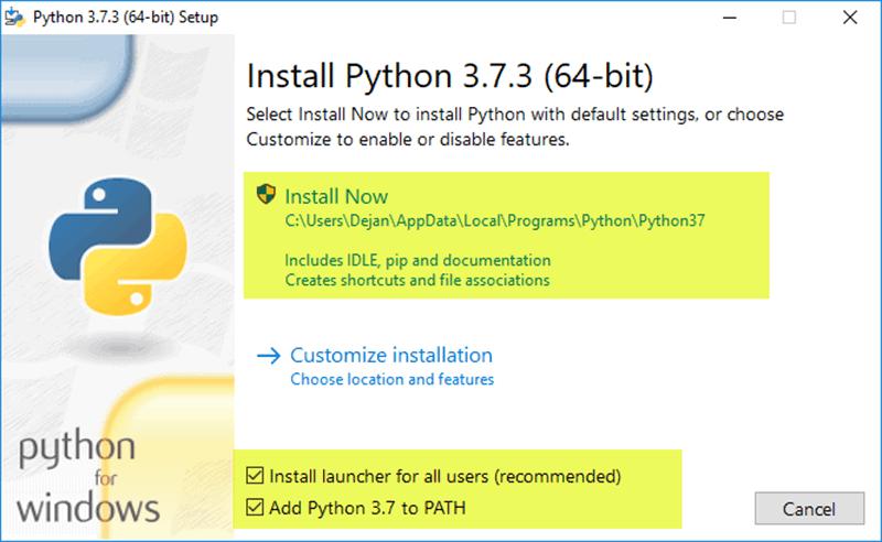 update python scripts