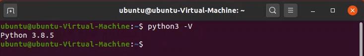 command python3 -V on terminal to check python version